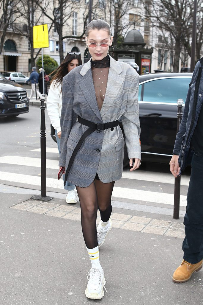 Bella Hadid ugly shoes sneakers THE-ARE